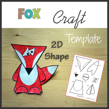 Woodland Animals Craft Fox - Template Cut and Paste