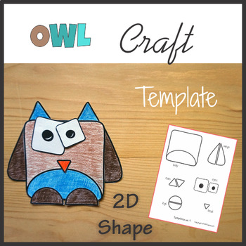 Woodland Animals Craft Owl - Template Cut and Paste