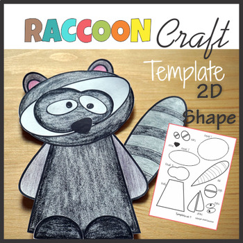 Woodland Animals Craft Raccoon - Template Cut and Paste