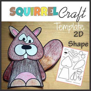 Woodland Animals Craft Squirrel - Template Cut and Paste