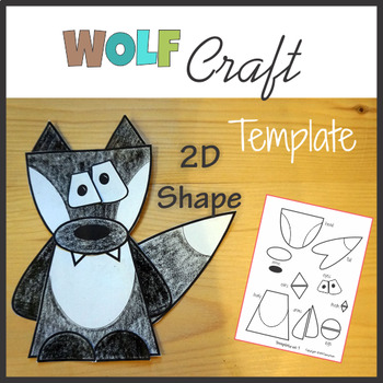 Wolf Craft Template Cut and Paste - Woodland Animals