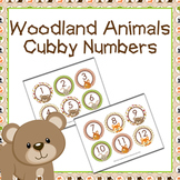 Woodland Animals Cubby Number Labels 1-30