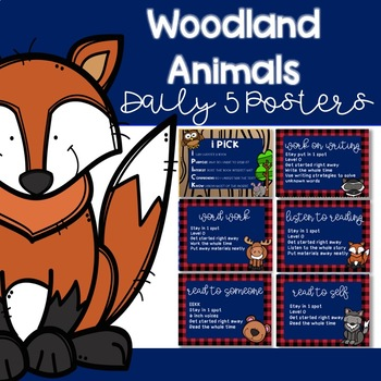 Woodland Animals Daily 5 Posters