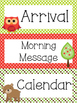 Woodland Animals Theme Daily Schedule Cards