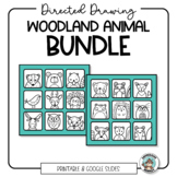 Woodland Animals Directed Drawing Bundle - Distance Learning Activity