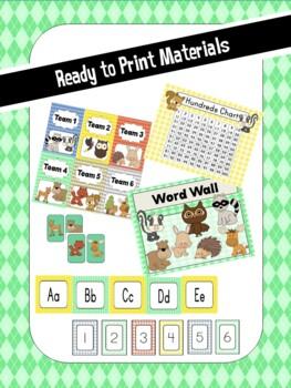 Woodland Animals Classroom Decor Pack {EDITABLE}