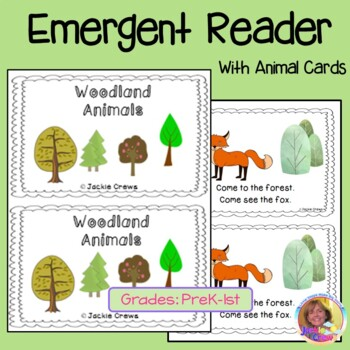Woodland Animals Emergent Reader with Animal Cards