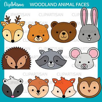 Woodland Animals Clip Art, Forest Animal Masks