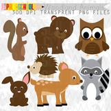 Woodland Animals Friends Clip Art