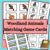 Woodland Animals Matching Game Cards for Memory and Go Fish