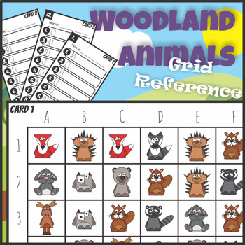 Grid Reference Game Woodland Animals