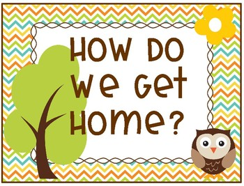 Woodland Animals - How Do We Get Home Chart