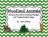 Woodland Animals ~ Including non-fiction reading passages & comprehension pages