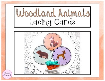 Woodland Animal Lacing Cards