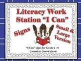 Woodland Animals Literacy Work Station I Can Posters