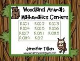 Woodland Animals Mathematics Centers-Common Core