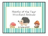 Woodland Animals Months of The Year