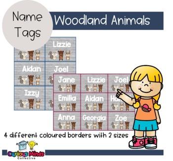 Woodland Animals Name Tags EDITABLE