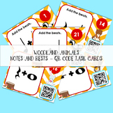 Woodland Beats - Notes and Rests QR Code Task Cards