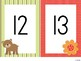 Woodland Animals Number Cards 5x7