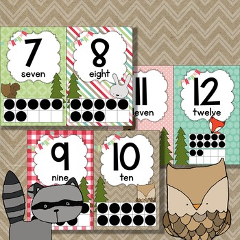 Woodland Animals Numberline - Woodland Forest Theme