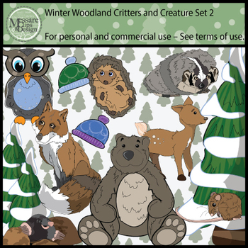 Woodland Animals Clip Art Pack 2 {Messare Clips and Design}