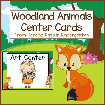Woodland Animals Pocket Chart Center Cards