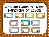 Woodland Animals Polka-Dot Labels or Name tags