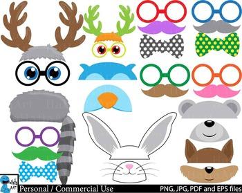 Woodland Animals Props v1 Clip Art Digital Files Personal Commercial Use cod234