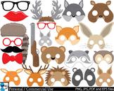 Woodland Animals Props v2 Clip Art Digital Files Personal