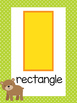 Woodland Animals Theme Shapes Posters
