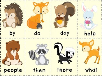 Woodland Animals Sight Word Game