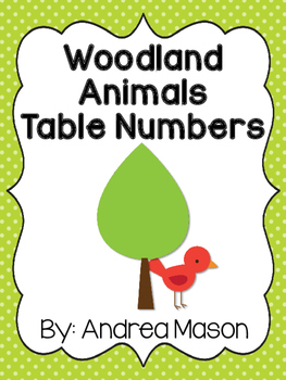 Woodland Animals Theme Table Numbers
