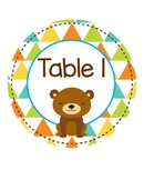 Woodland Animals Table Numbers
