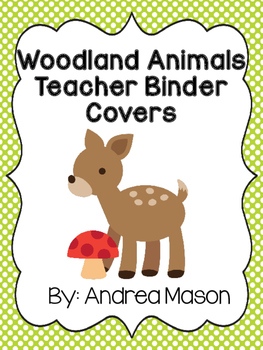 Woodland Animals Theme Teacher Binder Covers