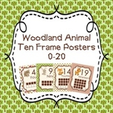 Woodland Forest Animals Ten Frame Posters 0-20 - Fox Included