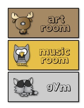 Woodland Animals Themed Hall Passes