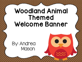 Woodland Animals Theme Welcome Banner