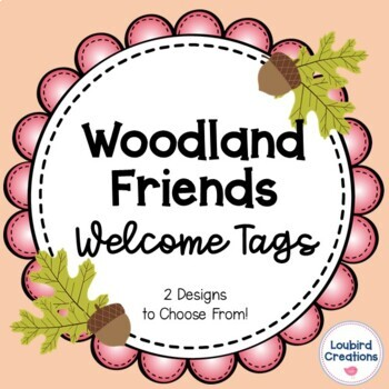 Woodland Animals Welcome Tags