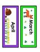 Woodland Animals:: Woodland CalendarThemed Months
