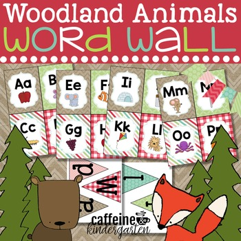 Woodland Animals Word Wall - Woodland Forest Theme
