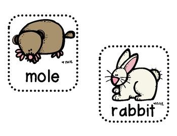 Woodland Animals Write the Room (8 words)