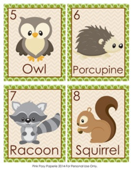 Woodland Forest Animals Write the Room Activity