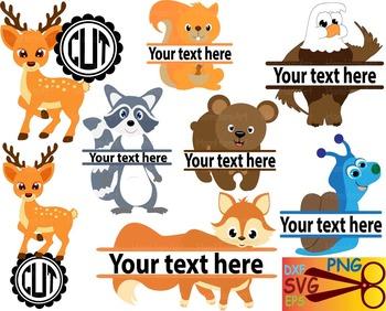 Woodland Animals deer EPS SVG DXF school reward cutting cu