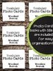 Woodland - Forest - Animals Vocabulary Photo Flashcards