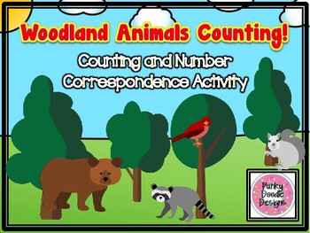 Woodland Animals in the Forest Counting and Number Correspondence Activity