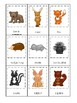 Woodland Animals themed 3 Part Matching Game.  Printable Preschool Game