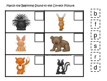 picture relating to Printable Woodland Animals known as Woodland Pets themed Recreation the Starting off Good Activity. Printable Preschool Georgia
