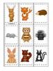 Woodland Animals themed Memory Match Game. Printable Preschool Game