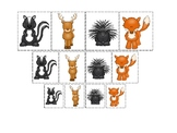 Woodland Animals themed Size Sorting. Printable Preschool Game